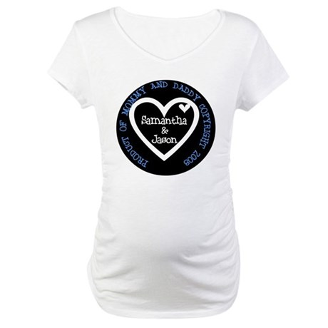 *SAMPLE ONLY* Personalized Boy Maternity T-Shirt