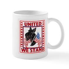 Scotty with flags Mug