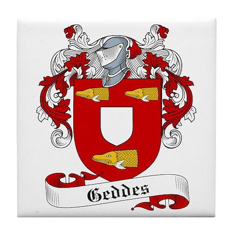 Geddes Family Crest Tile Coaster