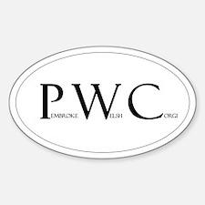 Pembroke Welsh Corgi Oval Decal