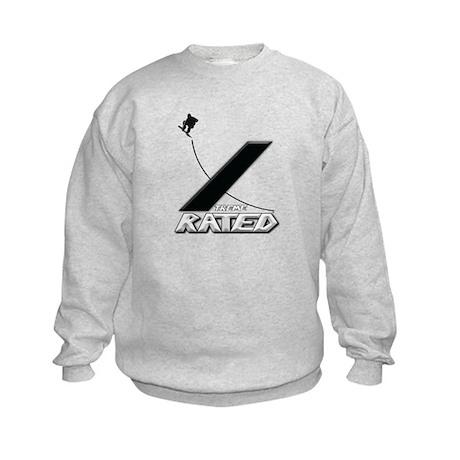 Xtreme Rated-Snowboarding Kids Sweatshirt