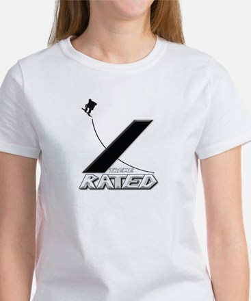 Xtreme Rated-Snowboarding Women's T-Shirt