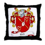 Gib Family Crest Throw Pillow