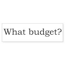 What budget? Bumper Bumper Sticker
