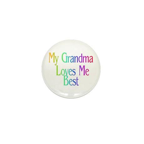 My Grandma Loves Me Best Mini Button