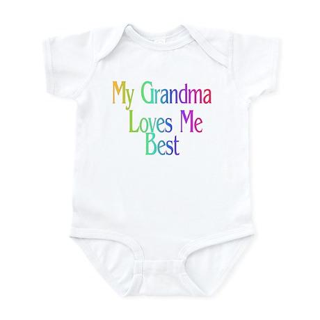 My Grandma Loves Me Best Infant Bodysuit