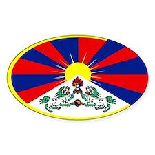 tibetan flag Oval Decal