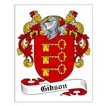 Gibson Family Crest Small Poster
