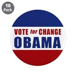 "Vote for Change Obama 3.5"" Button (10 pack)"
