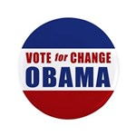 "Vote for Change Obama 3.5"" Button"
