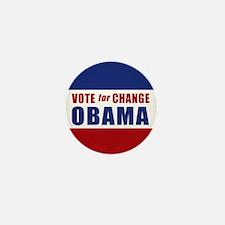 Vote for Change Obama Mini Button