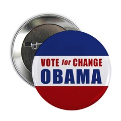 "Vote for Change Obama 2.25"" Button"