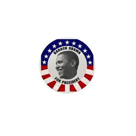 Classic Black & White Obama Mini Button (10 pa