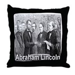 Abraham Lincoln Inauguration Throw Pillow