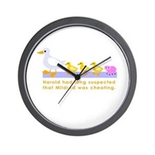 """""""Mildred was cheating..."""" Wall Clock"""