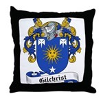 Gilchrist Family Crest Throw Pillow