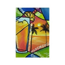 Tequila Sunrise Rectangle Magnet