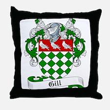 Gill Family Crest Throw Pillow