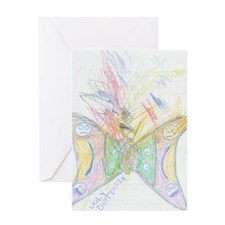 Ugly Butterfly Greeting Card