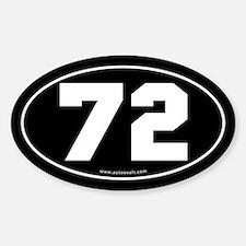 #72 Euro Bumper Oval Sticker -Black