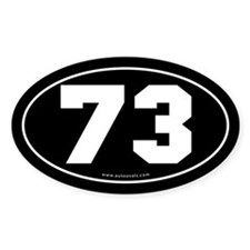 #73 Euro Bumper Oval Sticker -Black