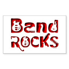 Band Rocks Rectangle Decal
