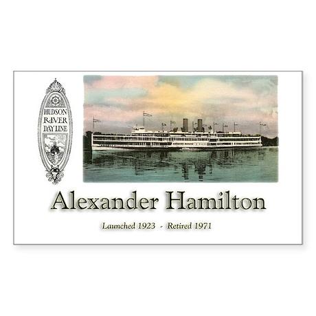 Alexander Hamilton Rectangle Sticker
