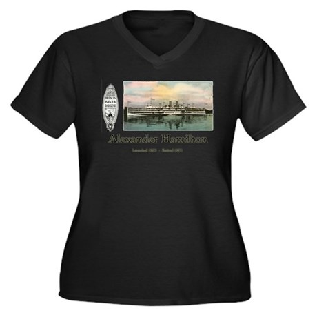 Alexander Hamilton Women's Plus Size V-Neck Dark T