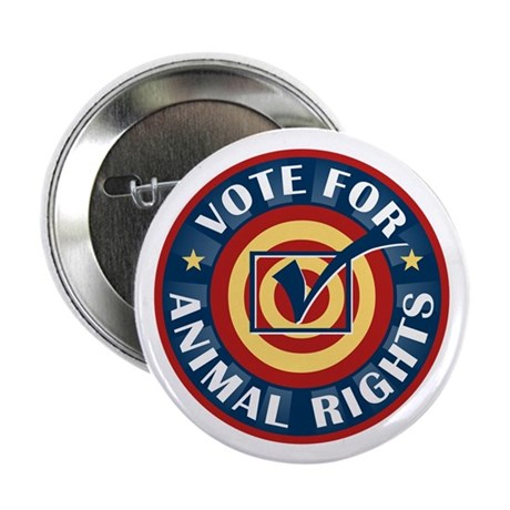 "Vote for Animal Rights 2.25"" Button (100 pack)"