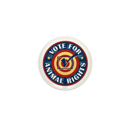 Vote for Animal Rights Mini Button (10 pack)