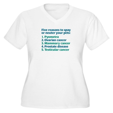 Five Reasons Women's Plus Size V-Neck T-Shirt