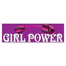 GIRL POWER Bumper Bumper Stickers