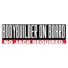 BODYBUILDER ON BOARD Bumper Bumper Sticker