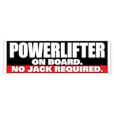 POWERLIFTER ON BOARD Bumper Car Sticker