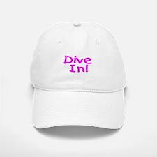 Dive In! Baseball Baseball Cap