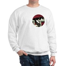 Snoozing B&W Maine Coon Cat Sweatshirt