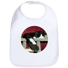 Snoozing Black & White Maine  Bib
