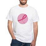 Pink Ribbon White T-Shirt
