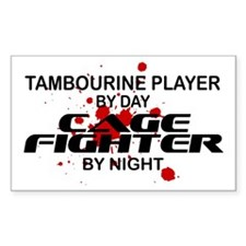 Tambourine Cage Fighter by Night Stickers