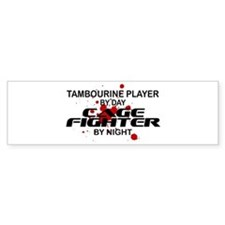 Tambourine Cage Fighter by Night Bumper Stickers