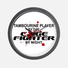 Tambourine Cage Fighter by Night Wall Clock