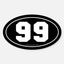 #99 Euro Bumper Oval Sticker -Black