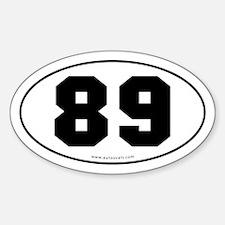 #89 Euro Bumper Oval Sticker -White