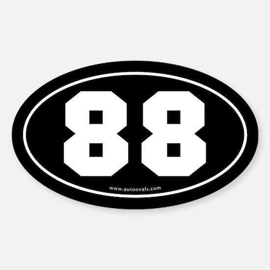 #88 Euro Bumper Oval Sticker -Black