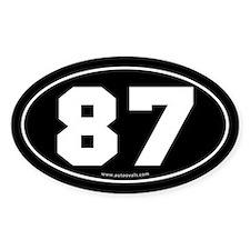 #87 Euro Bumper Oval Sticker -Black