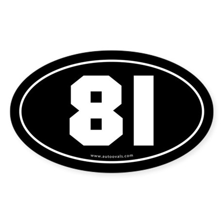 #81 Euro Bumper Oval Sticker -Black