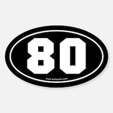 #80 Euro Bumper Oval Sticker -Black
