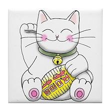 lucky Money Cat Tile Coaster