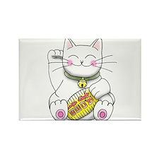 lucky Money Cat Rectangle Magnet