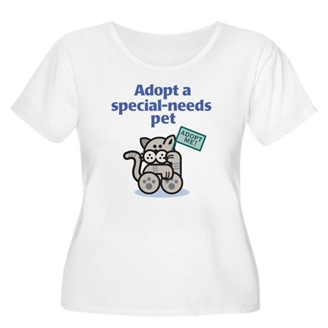 Special-Needs Pet (Cat) Women's Plus Size Tee